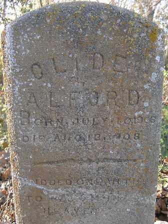 ALFORD, CLIDE - Independence County, Arkansas | CLIDE ALFORD - Arkansas Gravestone Photos