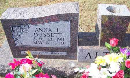 DOSSETT ALTOM, ANNA I - Independence County, Arkansas | ANNA I DOSSETT ALTOM - Arkansas Gravestone Photos