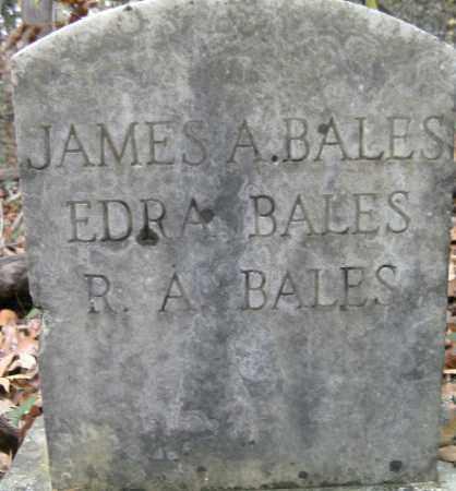 BALES, EDRA - Independence County, Arkansas | EDRA BALES - Arkansas Gravestone Photos