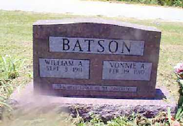 GENNINGS BATSON, VONNIE A. - Independence County, Arkansas | VONNIE A. GENNINGS BATSON - Arkansas Gravestone Photos