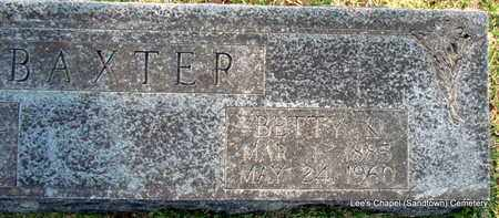 BAXTER, BETTY K (CLOSE UP) - Independence County, Arkansas | BETTY K (CLOSE UP) BAXTER - Arkansas Gravestone Photos
