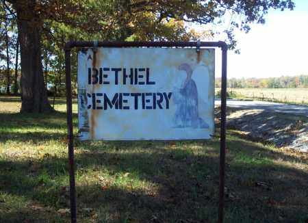 *BETHEL CEMETERY SIGN,  - Independence County, Arkansas |  *BETHEL CEMETERY SIGN - Arkansas Gravestone Photos