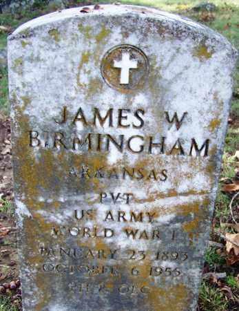 BIRMINGHAM (VETERAN WWI), JAMES W - Independence County, Arkansas | JAMES W BIRMINGHAM (VETERAN WWI) - Arkansas Gravestone Photos
