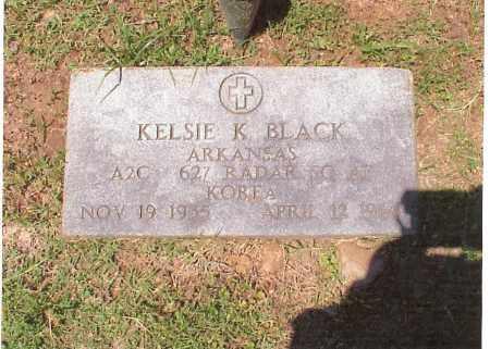 BLACK  (VETERAN KOR), KELSIE K. - Independence County, Arkansas   KELSIE K. BLACK  (VETERAN KOR) - Arkansas Gravestone Photos