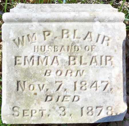 BLAIR, WM. P. - Independence County, Arkansas | WM. P. BLAIR - Arkansas Gravestone Photos