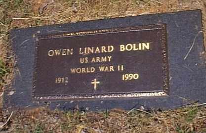 BOLIN  (VETERAN WWII), OWEN LINARD - Independence County, Arkansas | OWEN LINARD BOLIN  (VETERAN WWII) - Arkansas Gravestone Photos