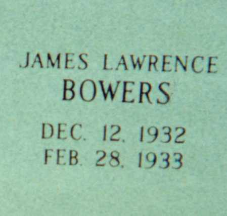 BOWERS, JAMES LAWRENCE - Independence County, Arkansas | JAMES LAWRENCE BOWERS - Arkansas Gravestone Photos