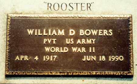 """BOWERS  (VETERAN WWII), WILLIAM DIAL """"ROOSTER"""" - Independence County, Arkansas 