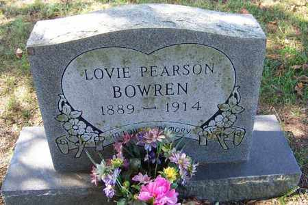 PEARSON BOWREN, LOVIE - Independence County, Arkansas | LOVIE PEARSON BOWREN - Arkansas Gravestone Photos