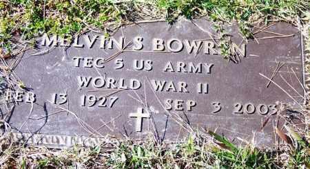 BOWREN (VETERAN WWII), MELVIN S - Independence County, Arkansas   MELVIN S BOWREN (VETERAN WWII) - Arkansas Gravestone Photos