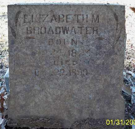 BROADWATER, ELIZABETH M. - Independence County, Arkansas | ELIZABETH M. BROADWATER - Arkansas Gravestone Photos