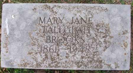 TALLULAH BROOKS, MARY JANE - Independence County, Arkansas | MARY JANE TALLULAH BROOKS - Arkansas Gravestone Photos