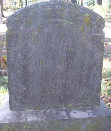 BROWN, OLIVE - Independence County, Arkansas | OLIVE BROWN - Arkansas Gravestone Photos