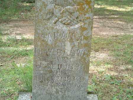 BROWN, SARAH AMANDA - Independence County, Arkansas | SARAH AMANDA BROWN - Arkansas Gravestone Photos