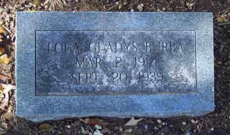 BURBA, LOLA GLADYS - Independence County, Arkansas   LOLA GLADYS BURBA - Arkansas Gravestone Photos