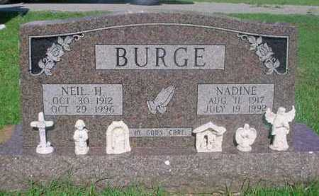 "TUCKER BURGE, MILDRED NADINE ""NADINE"" - Independence County, Arkansas 