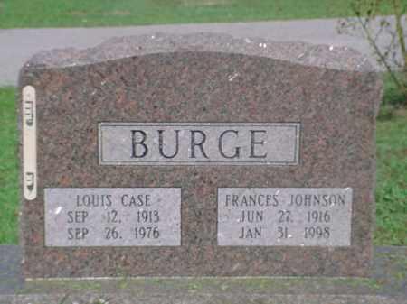 BURGE, FRANCES - Independence County, Arkansas | FRANCES BURGE - Arkansas Gravestone Photos