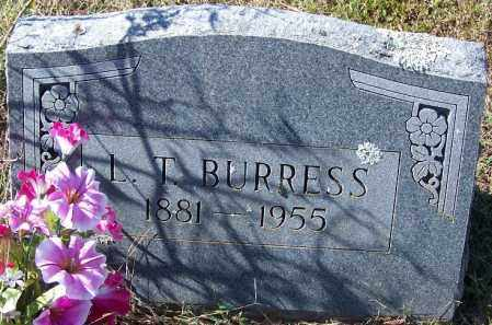 BURRESS, L T - Independence County, Arkansas   L T BURRESS - Arkansas Gravestone Photos