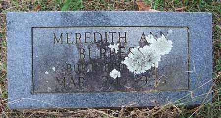 BURRESS, MEREDITH ANN - Independence County, Arkansas | MEREDITH ANN BURRESS - Arkansas Gravestone Photos