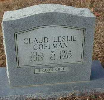 COFFMAN, CLAUD LESLIE - Independence County, Arkansas | CLAUD LESLIE COFFMAN - Arkansas Gravestone Photos