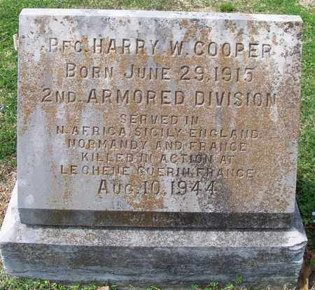 COOPER  (VETERAN WWII, KIA), HARRY W. - Independence County, Arkansas | HARRY W. COOPER  (VETERAN WWII, KIA) - Arkansas Gravestone Photos