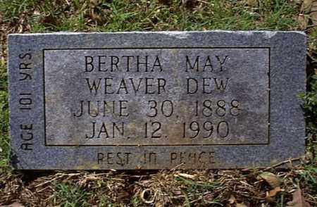 WEAVER DEW, BERTHA MAY - Independence County, Arkansas | BERTHA MAY WEAVER DEW - Arkansas Gravestone Photos