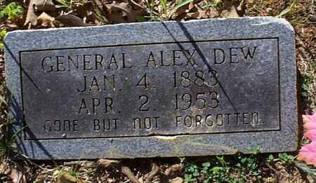 DEW, GENERAL ALEXANDER - Independence County, Arkansas | GENERAL ALEXANDER DEW - Arkansas Gravestone Photos