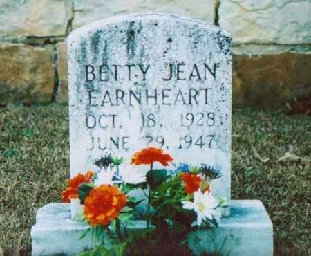 EARNHEART, BETTY JEAN - Independence County, Arkansas | BETTY JEAN EARNHEART - Arkansas Gravestone Photos