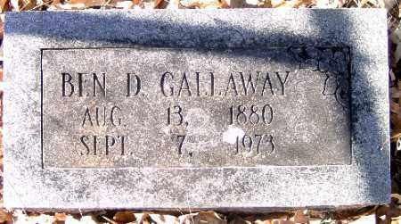 GALLOWAY, BEN D. - Independence County, Arkansas | BEN D. GALLOWAY - Arkansas Gravestone Photos