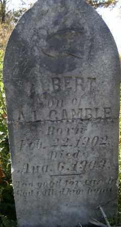 GAMBLE, ALBERT - Independence County, Arkansas   ALBERT GAMBLE - Arkansas Gravestone Photos