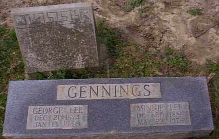 BRAY GENNINGS, MINNIE LEE - Independence County, Arkansas | MINNIE LEE BRAY GENNINGS - Arkansas Gravestone Photos
