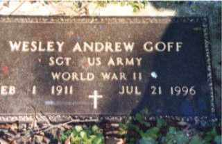 GOFF  (VETERAN WWII), WESLEY ANDREW - Independence County, Arkansas | WESLEY ANDREW GOFF  (VETERAN WWII) - Arkansas Gravestone Photos