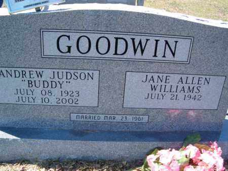 """GOODWIN, ANDREW JUDSON """"BUDDY"""" - Independence County, Arkansas 