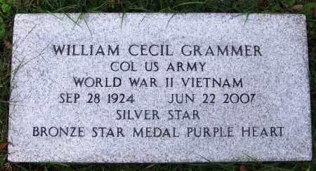 GRAMMER (VETERAN 2 WARS), WILLIAM CECIL - Independence County, Arkansas | WILLIAM CECIL GRAMMER (VETERAN 2 WARS) - Arkansas Gravestone Photos