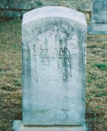 GRIFFIN, ANNE - Independence County, Arkansas | ANNE GRIFFIN - Arkansas Gravestone Photos