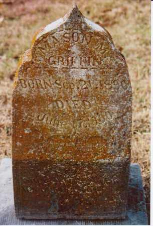 GRIFFIN, MASON M. - Independence County, Arkansas | MASON M. GRIFFIN - Arkansas Gravestone Photos