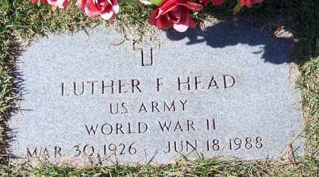 HEAD (VETERAN WWII), LUTHER F - Independence County, Arkansas | LUTHER F HEAD (VETERAN WWII) - Arkansas Gravestone Photos
