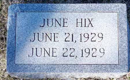 HIX, JUNE - Independence County, Arkansas   JUNE HIX - Arkansas Gravestone Photos