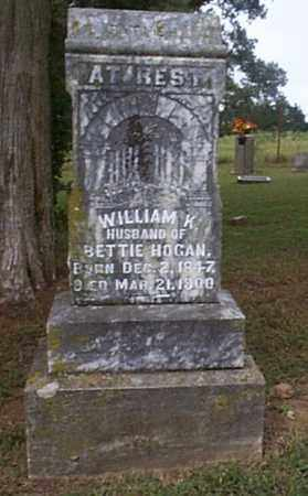 HOGAN, WILLIAM K. - Independence County, Arkansas   WILLIAM K. HOGAN - Arkansas Gravestone Photos