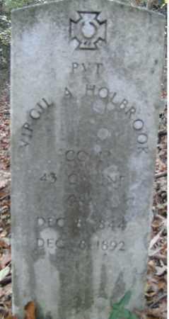 HOLBROOK  (VETERAN CSA), VIRGIL - Independence County, Arkansas | VIRGIL HOLBROOK  (VETERAN CSA) - Arkansas Gravestone Photos