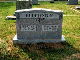 "HUDDLESTON, BURNESS ""BURNICE"" MEL - Independence County, Arkansas | BURNESS ""BURNICE"" MEL HUDDLESTON - Arkansas Gravestone Photos"