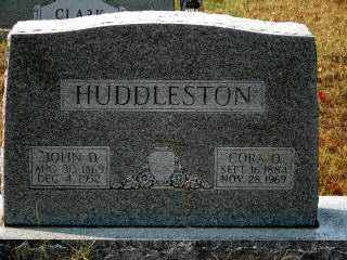 HUDDLESTON, JOHN D. - Independence County, Arkansas | JOHN D. HUDDLESTON - Arkansas Gravestone Photos