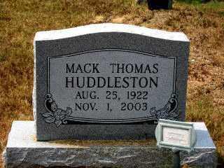 HUDDLESTON, MACK THOMAS - Independence County, Arkansas | MACK THOMAS HUDDLESTON - Arkansas Gravestone Photos