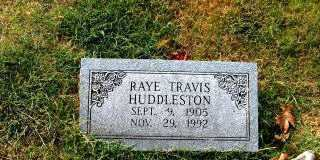 HUDDLESTON, RAYE TRAVIS - Independence County, Arkansas | RAYE TRAVIS HUDDLESTON - Arkansas Gravestone Photos