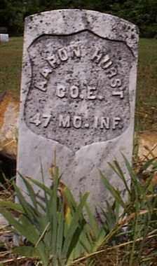 HURST  (VETERAN UNION), AARON JESSE - Independence County, Arkansas | AARON JESSE HURST  (VETERAN UNION) - Arkansas Gravestone Photos