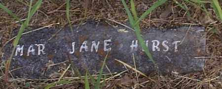 STOVER HURST, MARY JANE - Independence County, Arkansas | MARY JANE STOVER HURST - Arkansas Gravestone Photos