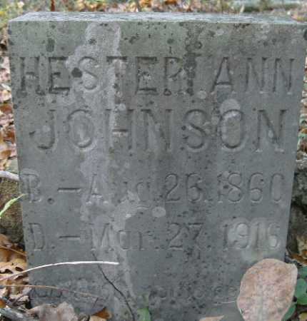 JOHNSON, HESTER - Independence County, Arkansas | HESTER JOHNSON - Arkansas Gravestone Photos