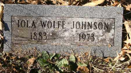 WOLFE JOHNSON, IOLA - Independence County, Arkansas | IOLA WOLFE JOHNSON - Arkansas Gravestone Photos