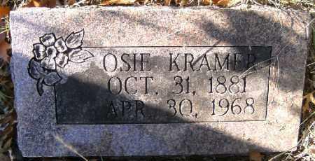 KRAMER, OSIE - Independence County, Arkansas   OSIE KRAMER - Arkansas Gravestone Photos