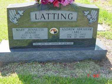 WARD LATTING, MARY JENNETTE - Independence County, Arkansas | MARY JENNETTE WARD LATTING - Arkansas Gravestone Photos